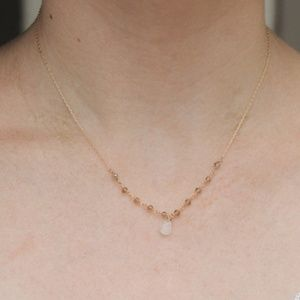 Brand New Gold and Grey Bead Necklace